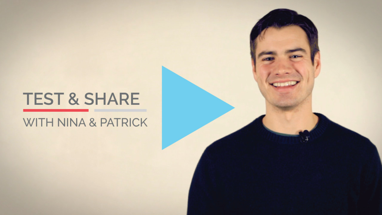 Vidyard Tour: Test & Share