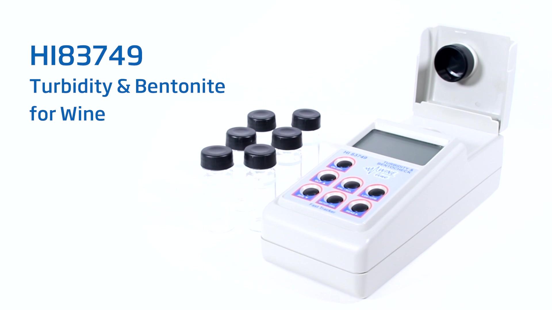 HI83749 Turbidity and Bentonite Meter for Wine