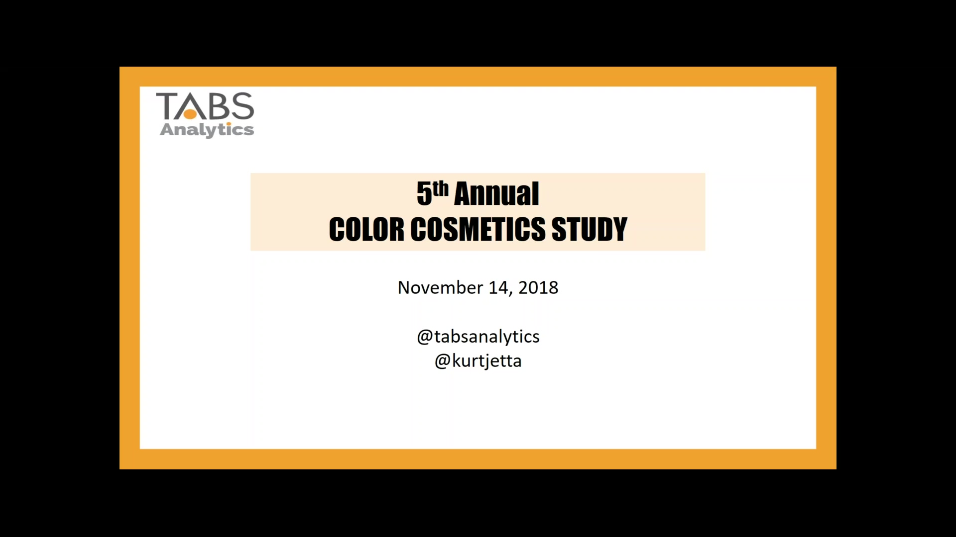 TABS 5th Annual Color Cosmetics Study (11_14_2018)