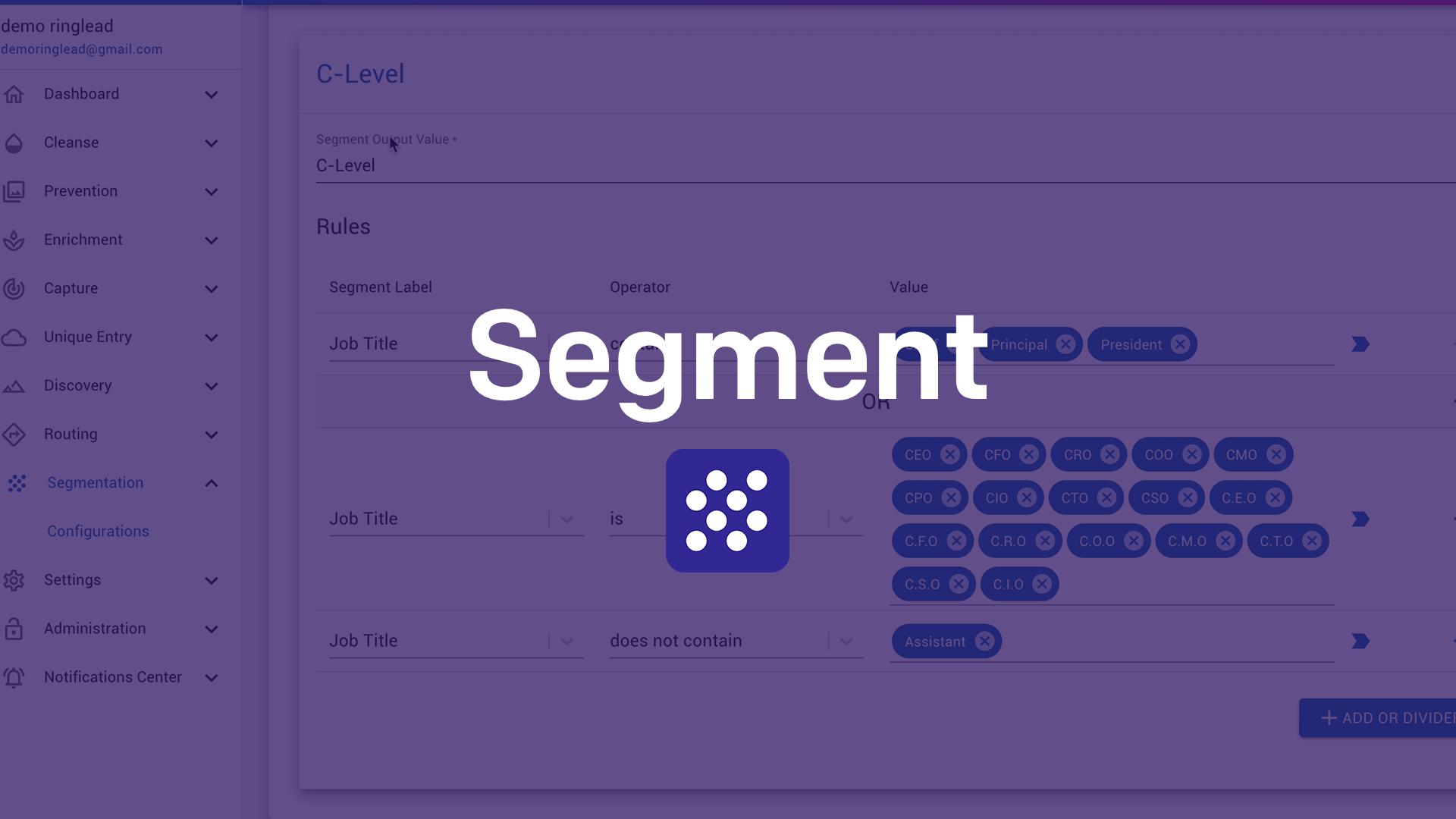 RingLead Segment Overview