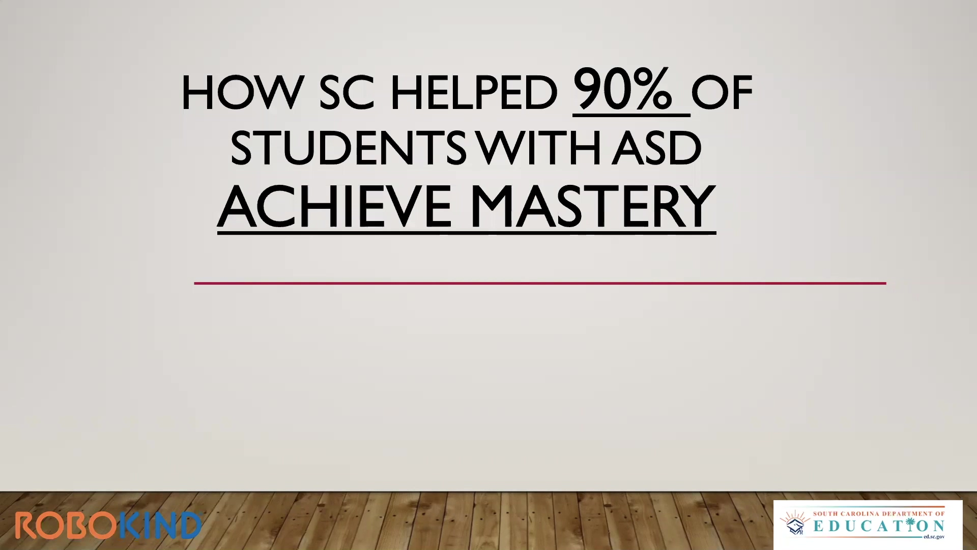 How SC Helped 90of Students with ASD Achieve Mastery
