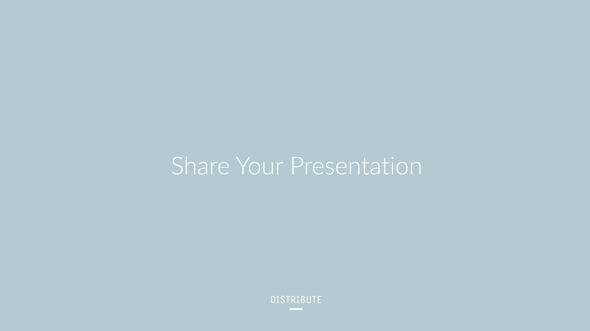 Brandboom Support - DISTRIBUTE - Share Your Presentation