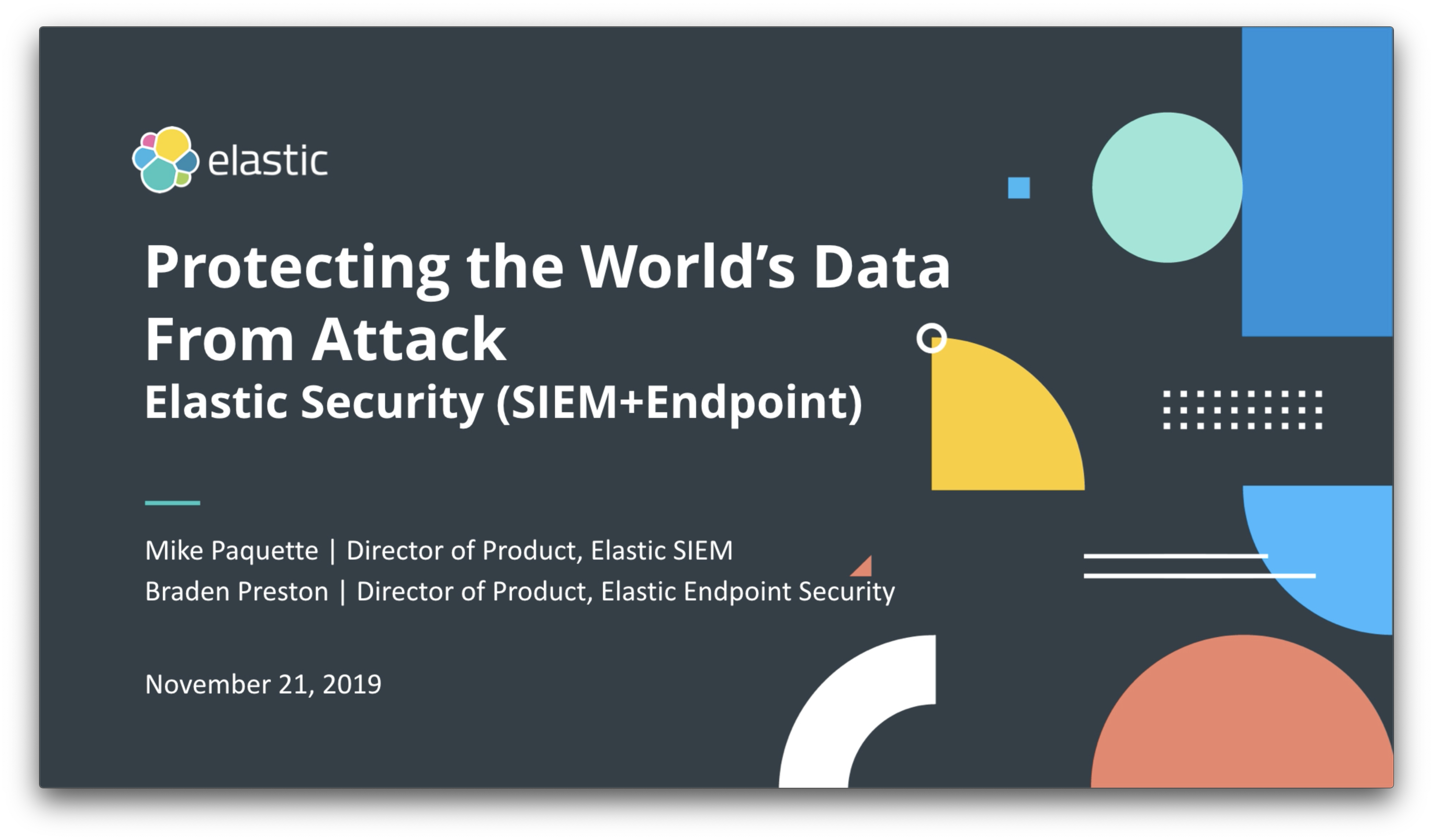 Video for Überblick über Elastic Endpoint Security: Security beginnt am Endpunkt