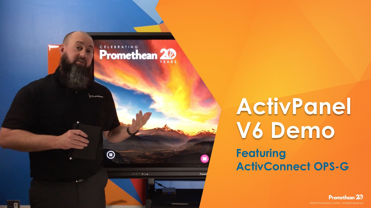 ActivPanel V6 Demo Featuring ActivConnect OPS-G