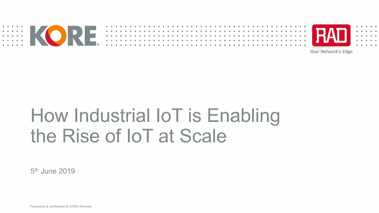 BrightTALK - IoT at Scale