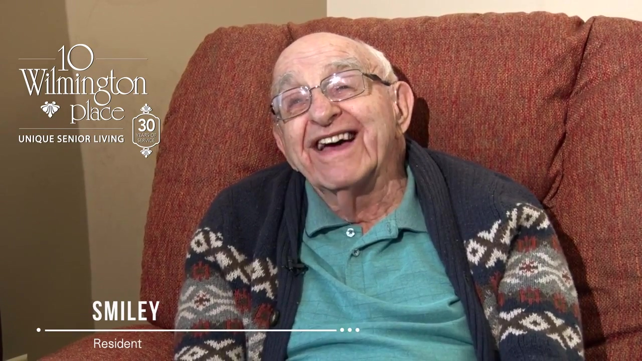 Resident Spotlight Smiley- All Smiles at 10 Wilmington Place Senior Living