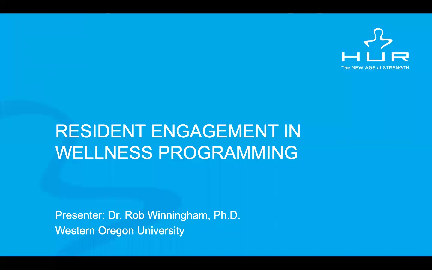 HUR Webinar - Maximizing  Resident Engagement