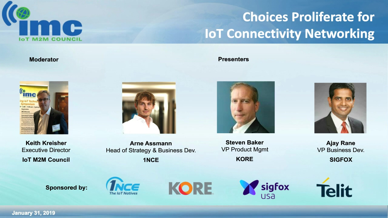 Choices Proliferate for IoT Connectivity (IMC)