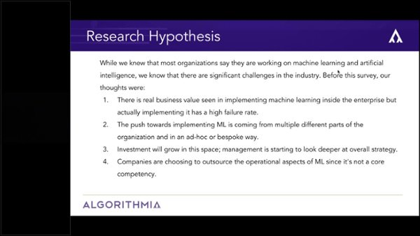 Research Webinar_ The State of Machine Learning in the Enterprise