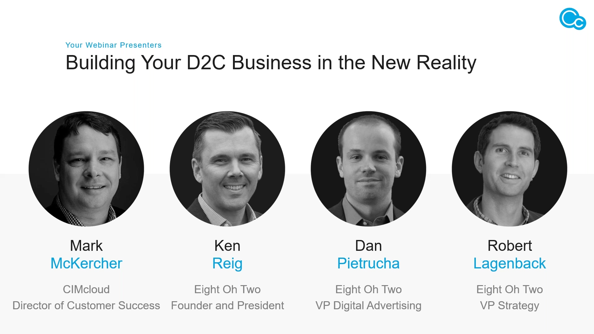 Webinar 2020 06 02 - Building Your D2C Business in the New Reality