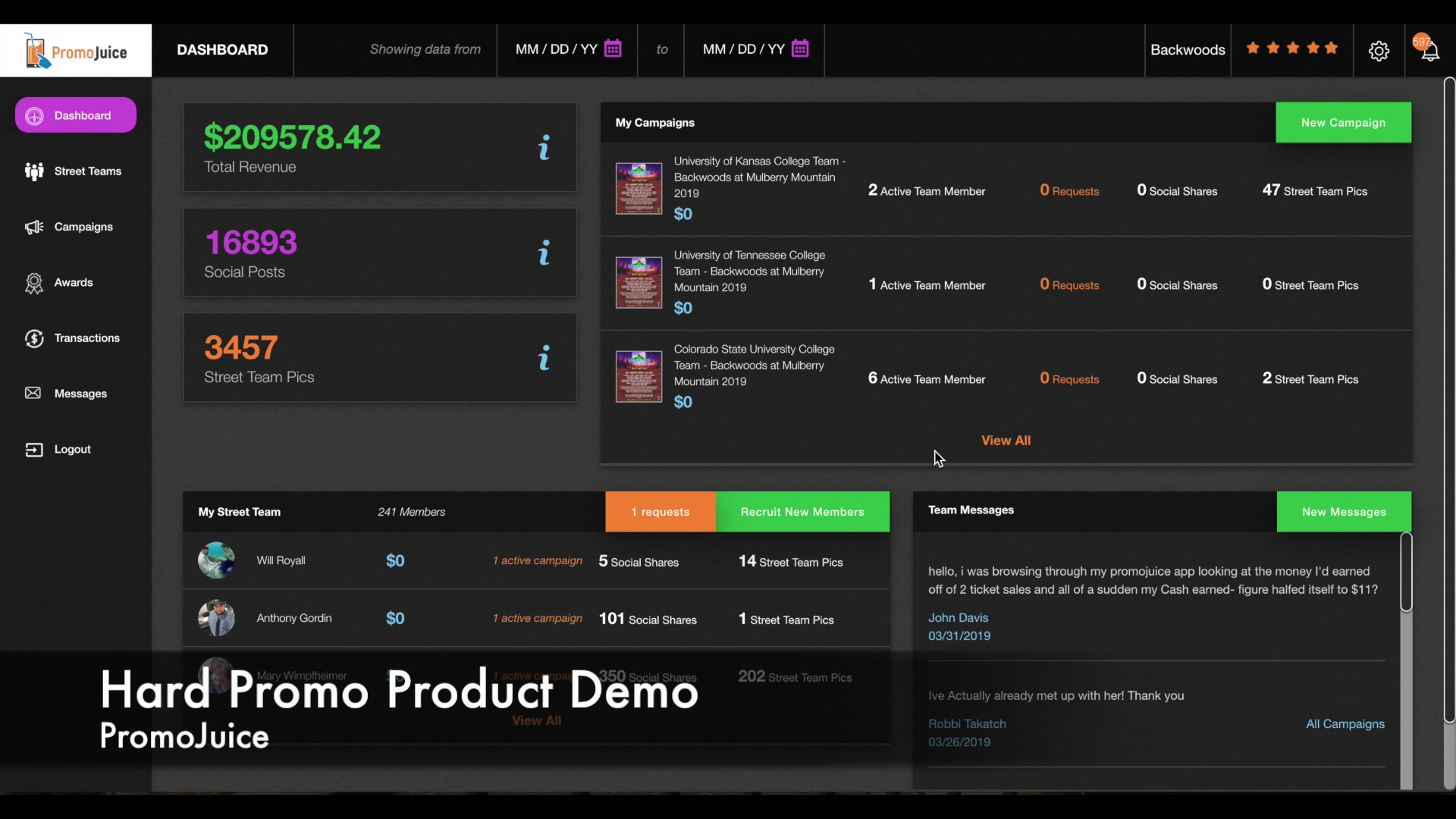 Hard Promo Product Demo