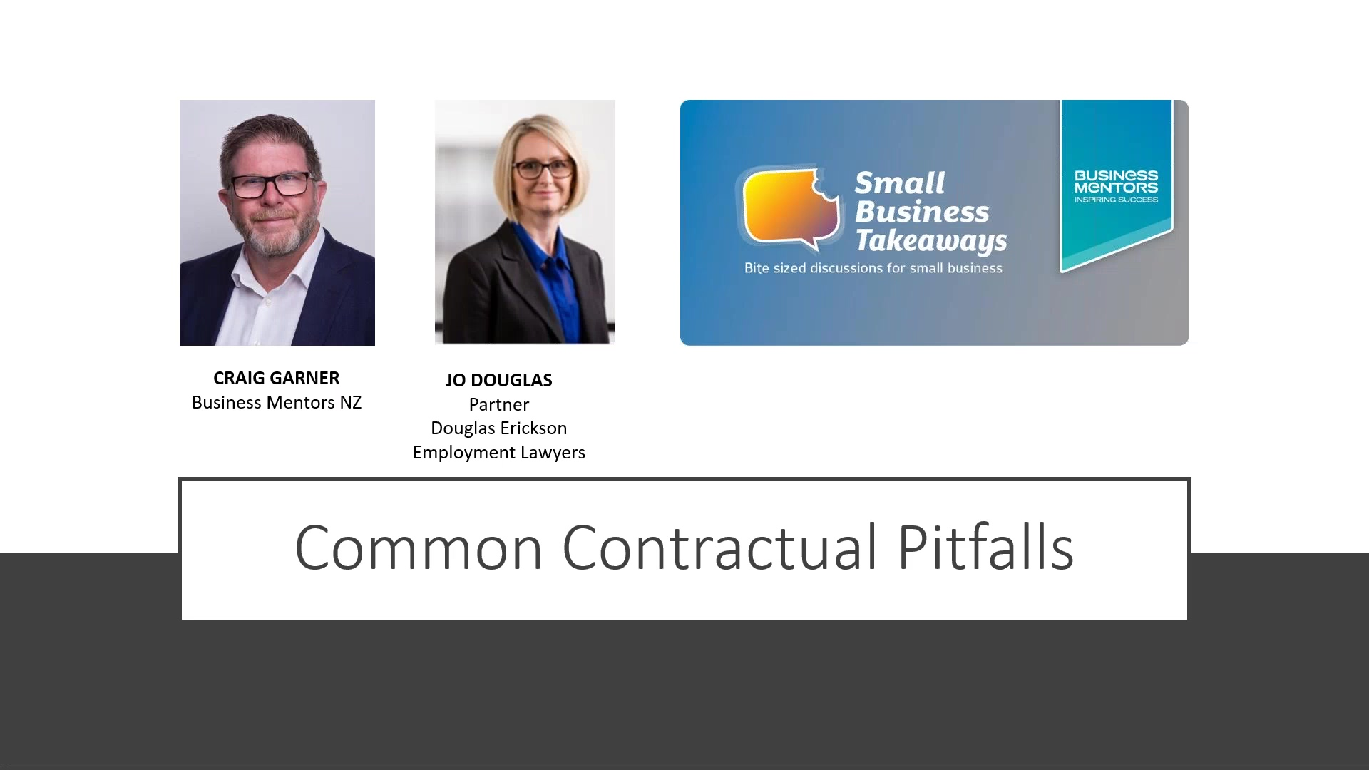 Business Mentors NZ Small Business Takeaways_ Employment Law Need to Know - Common Contractual Pitfa