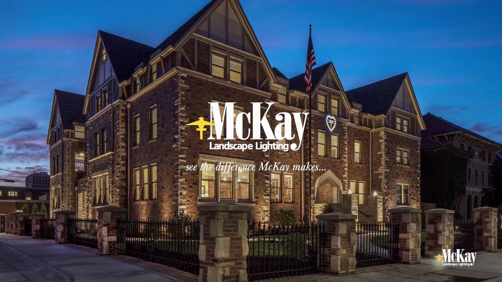 College Campus Energy Efficient LED Outdoor Lighting Lincoln Nebraska McKay Landscape Lighting