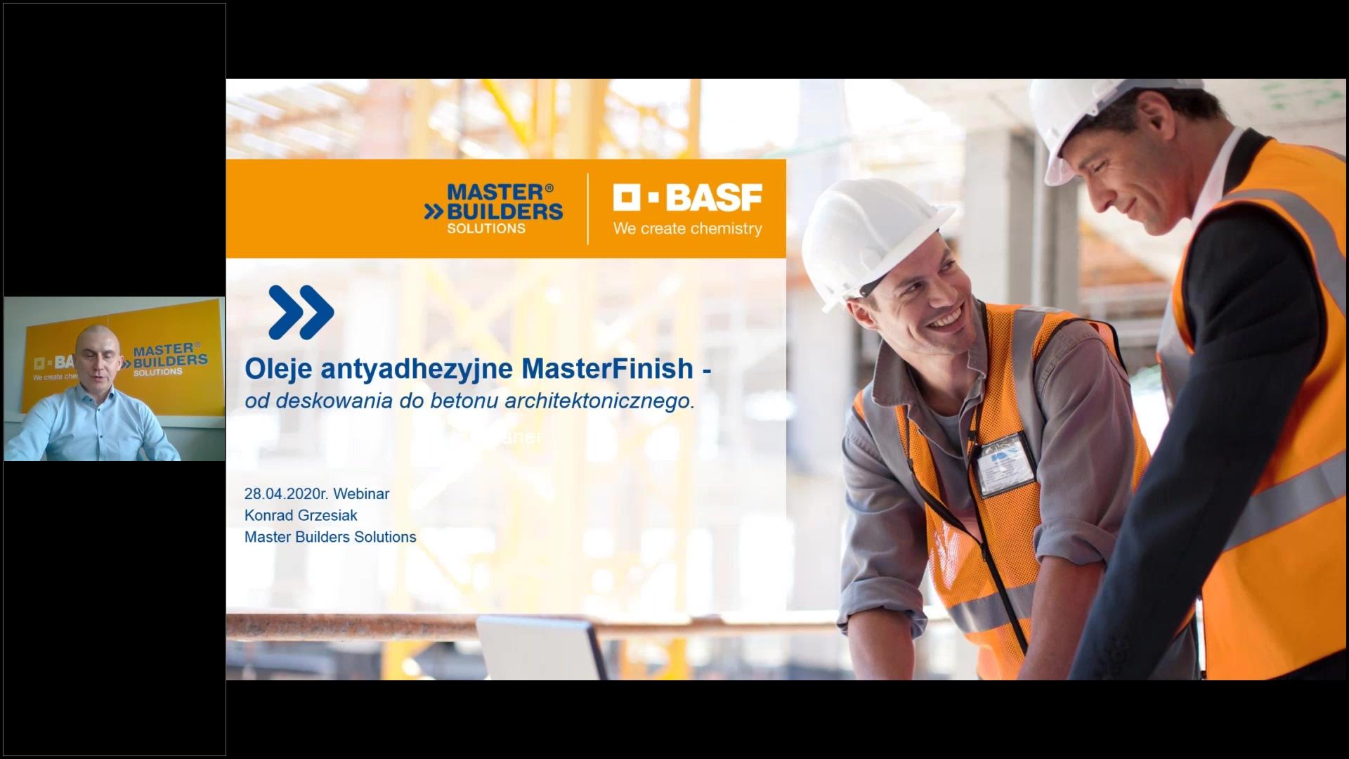 Oleje antyadhezyjne MasterFinish – od deskowania do betonu architektonicznego 28.04