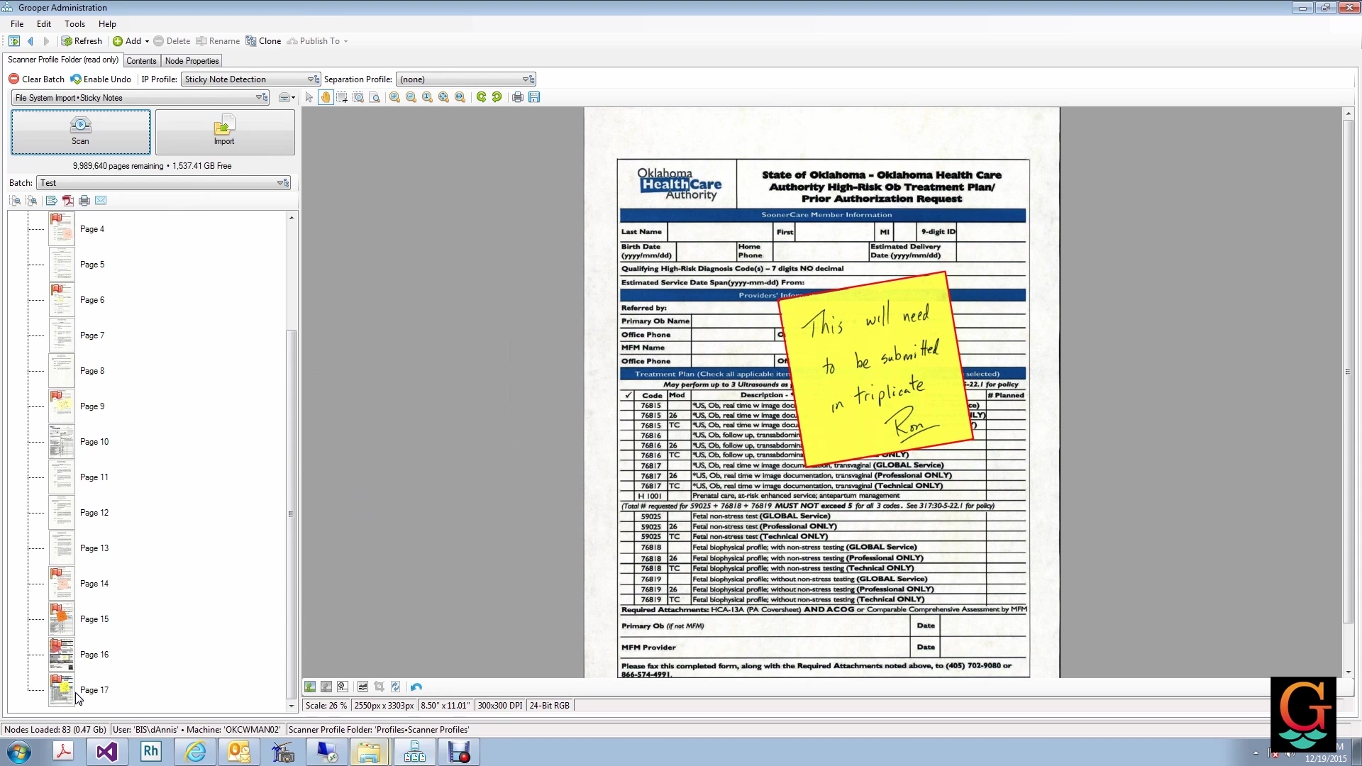 Cool Document Capture Feature Sticky Note Detectio