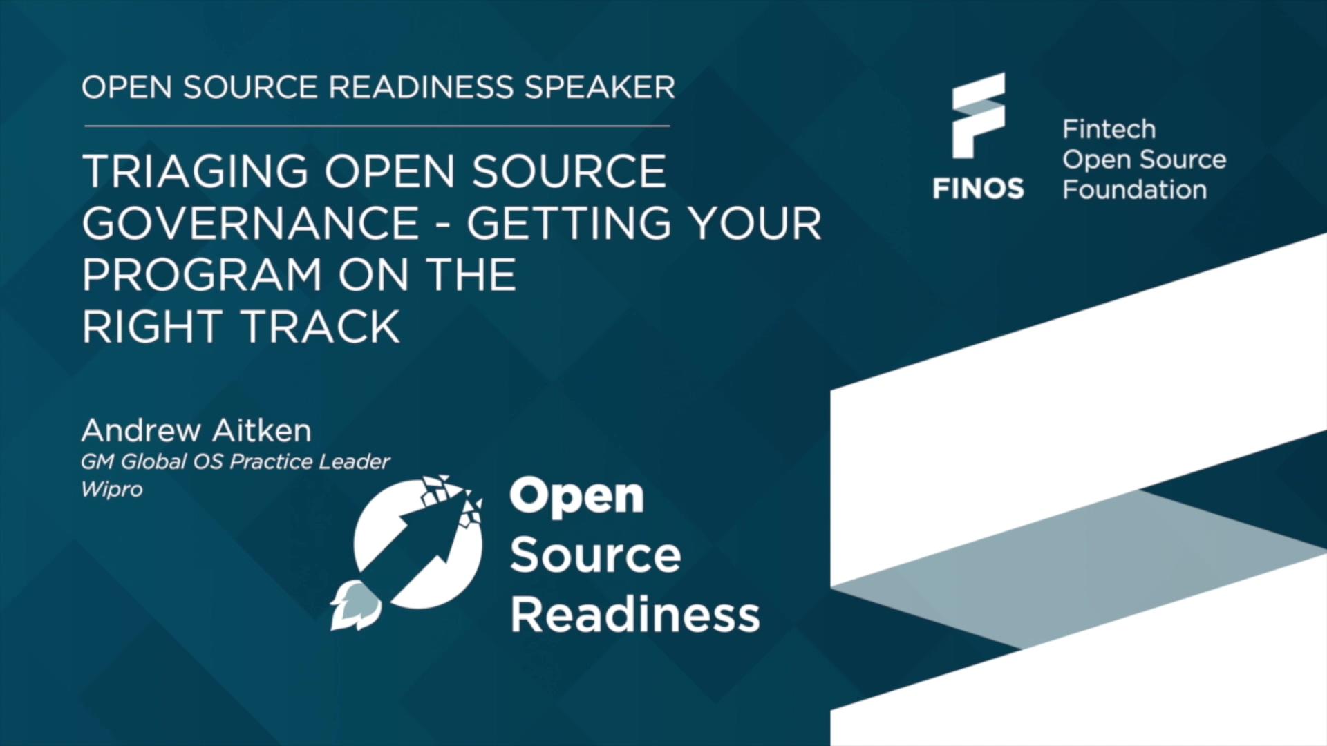 FINOS Open Source Readiness - Andrew Aitken