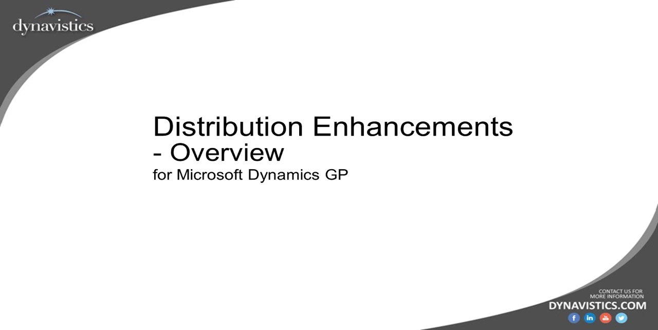 Overview of Distribution Enhancements for Dynamics GP