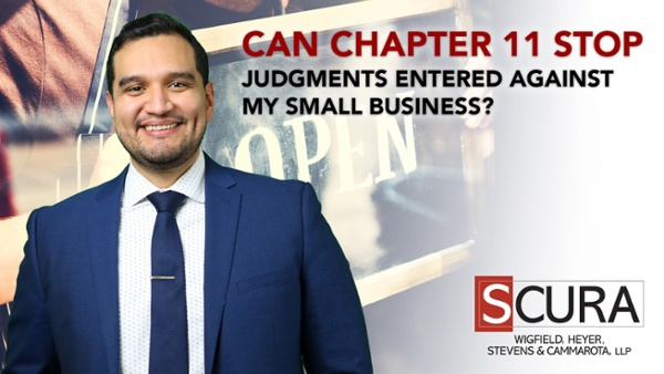 Can Chapter 11 Stop Judgments Entered Against My Small Business_