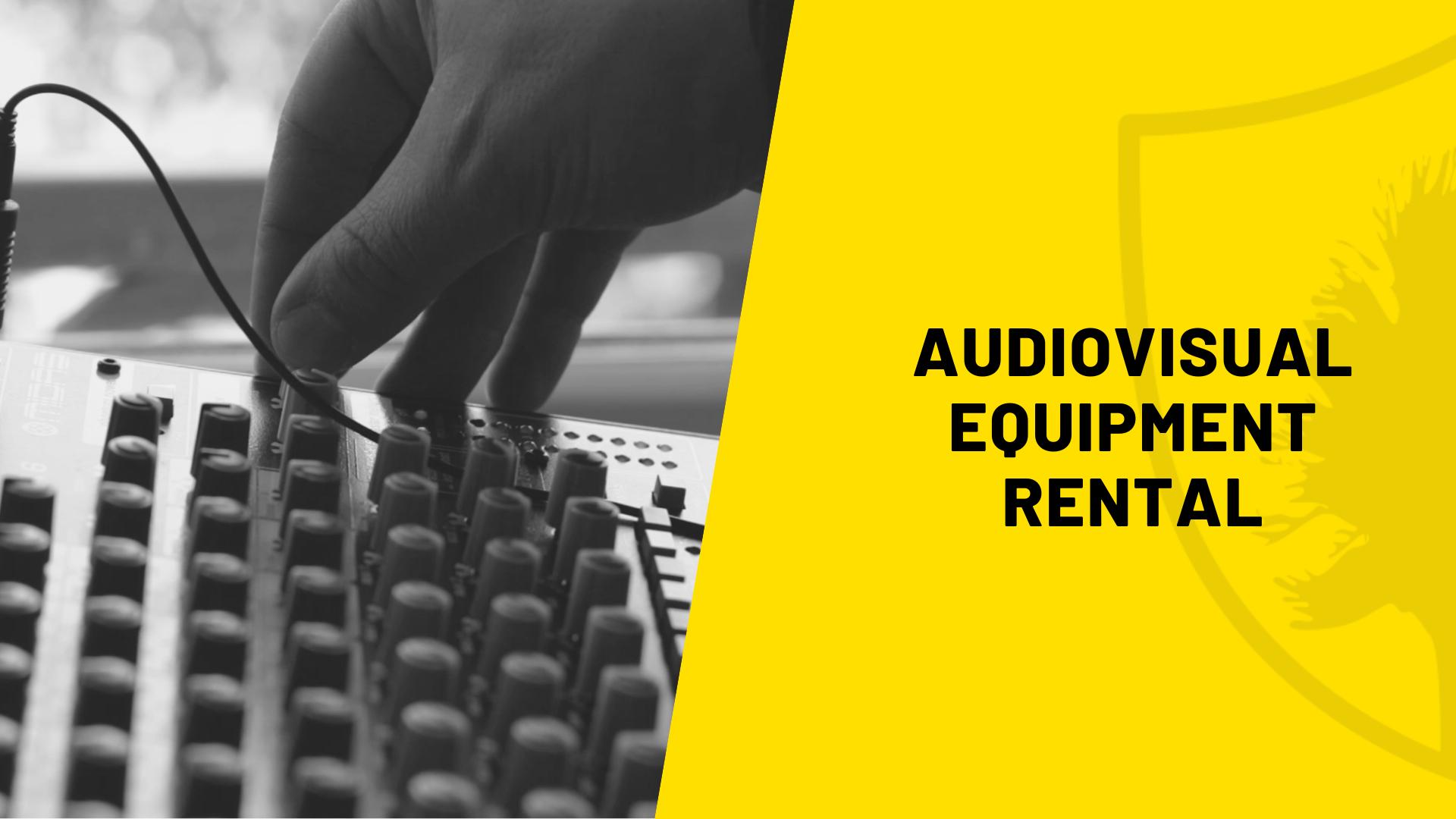 Audiovisual Equipment AV Rental