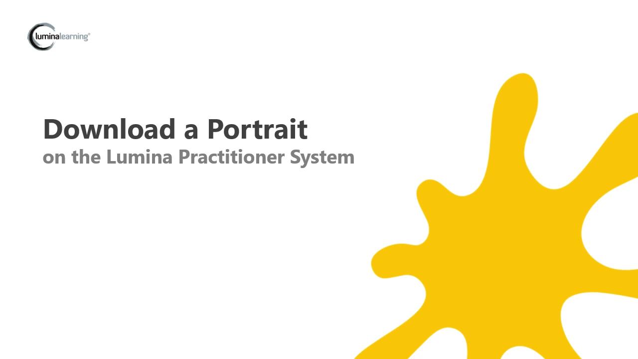 Downloading a Portrait