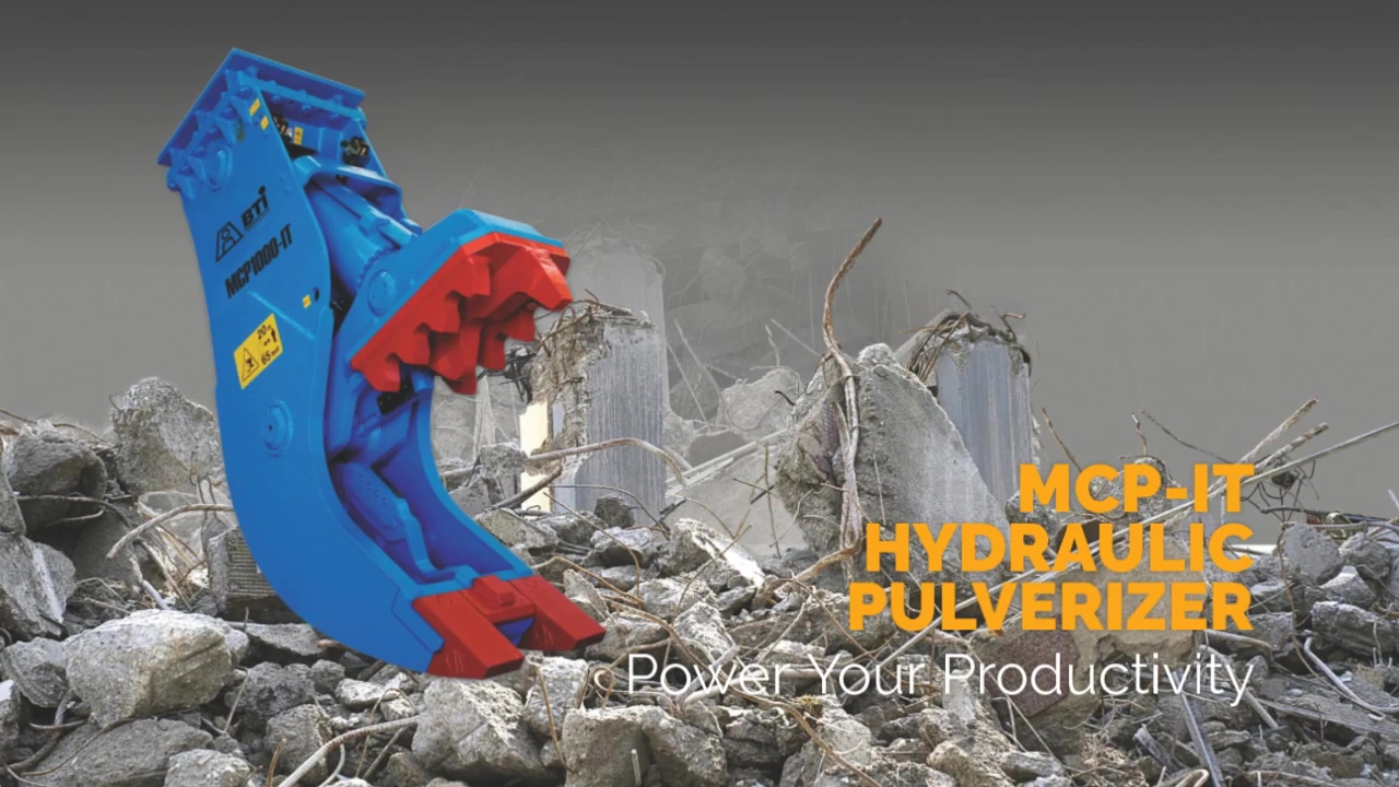 Breaker Technology   MCP-IT Hydraulic Pulverizer For Demolition   Power Your Productivity