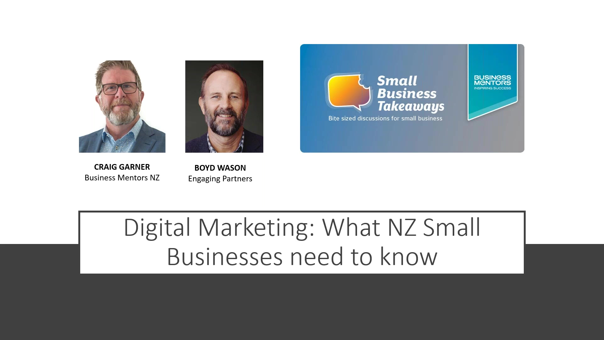 Business Mentors NZ Small Business Takeaways_ Digital Marketing – What NZ Small Business Must Know