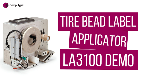 Tire Bead Label Applicator - LA3100 Demo