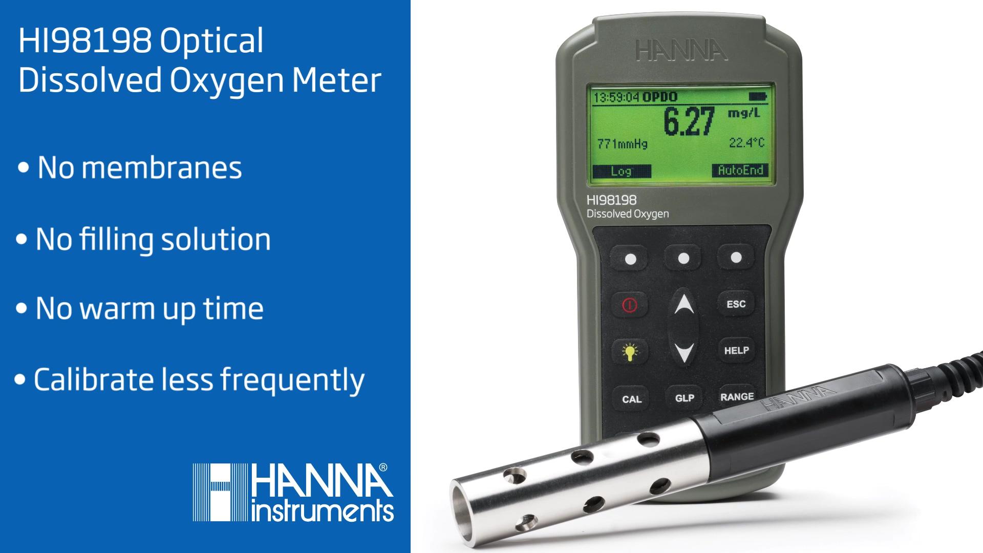 Hanna Instruments HI98198 Optical Dissolved Oxygen Meter