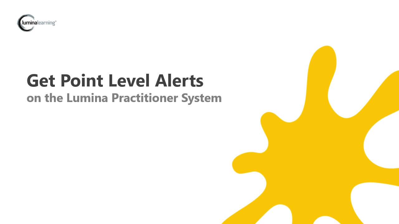 Point Level Alerts