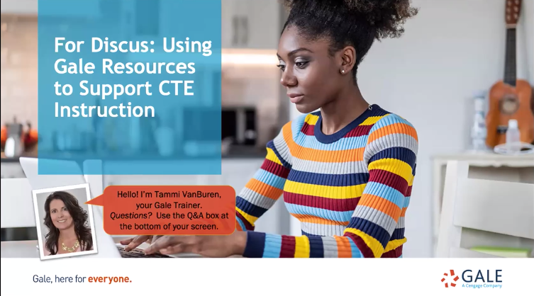 For Discus: Using Gale Resources to Support CTE Instruction Thumbnail
