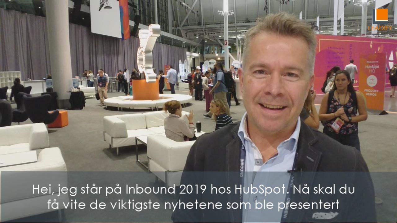 HubSpot 2019 Nyheter