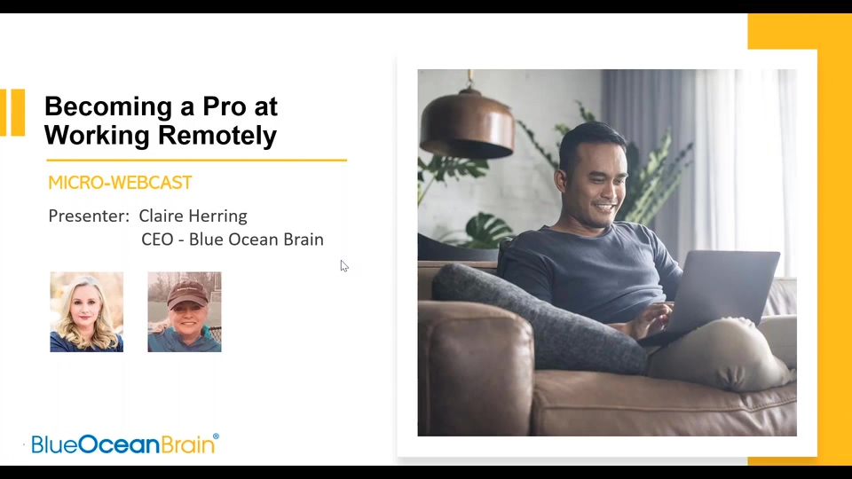 Webcast Snippet - Becoming a Pro at Working Remotely (2020)