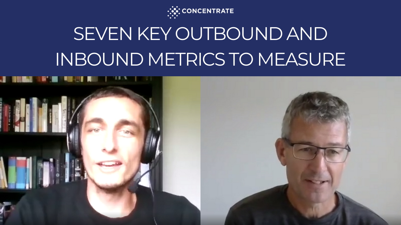 Video 4 Seven key outbound and inbound metrics to measure