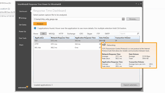 Intro to Response Time Viewer for Wireshark from SolarWinds
