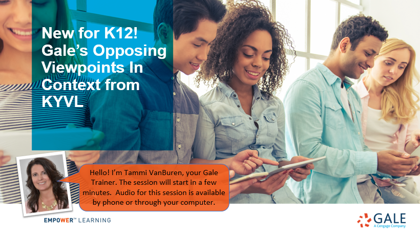 New for K12! Gale's Opposing Viewpoints In Context from KYVL Thumbnail