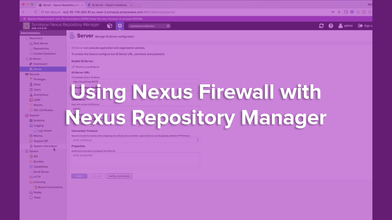 Using Nexus Firewall with Nexus Repository Manager