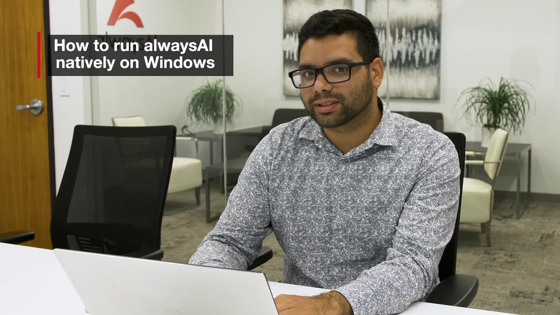 alwaysAI Demo 4 - How To Install on Windows