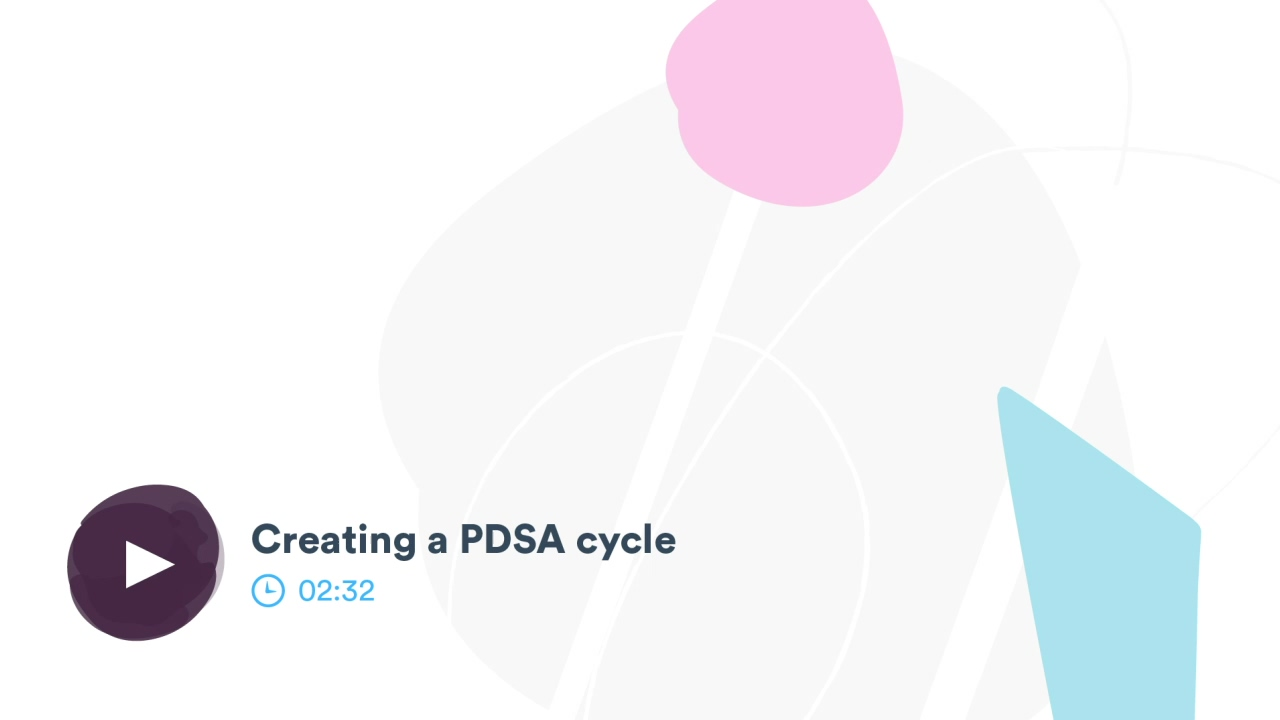 Creating a PDSA cycle