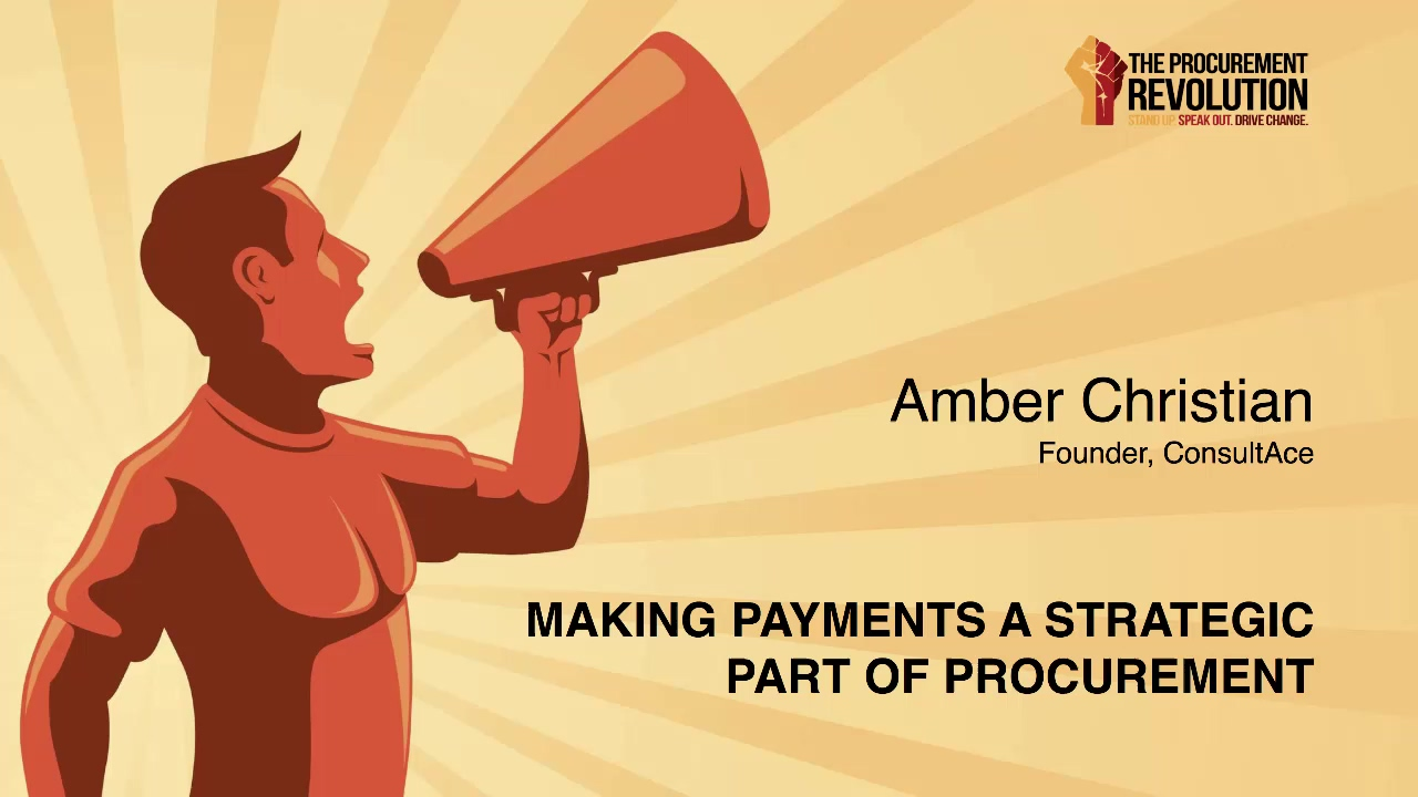 Amber Christian Making Payments a Strategic Part of Procurement