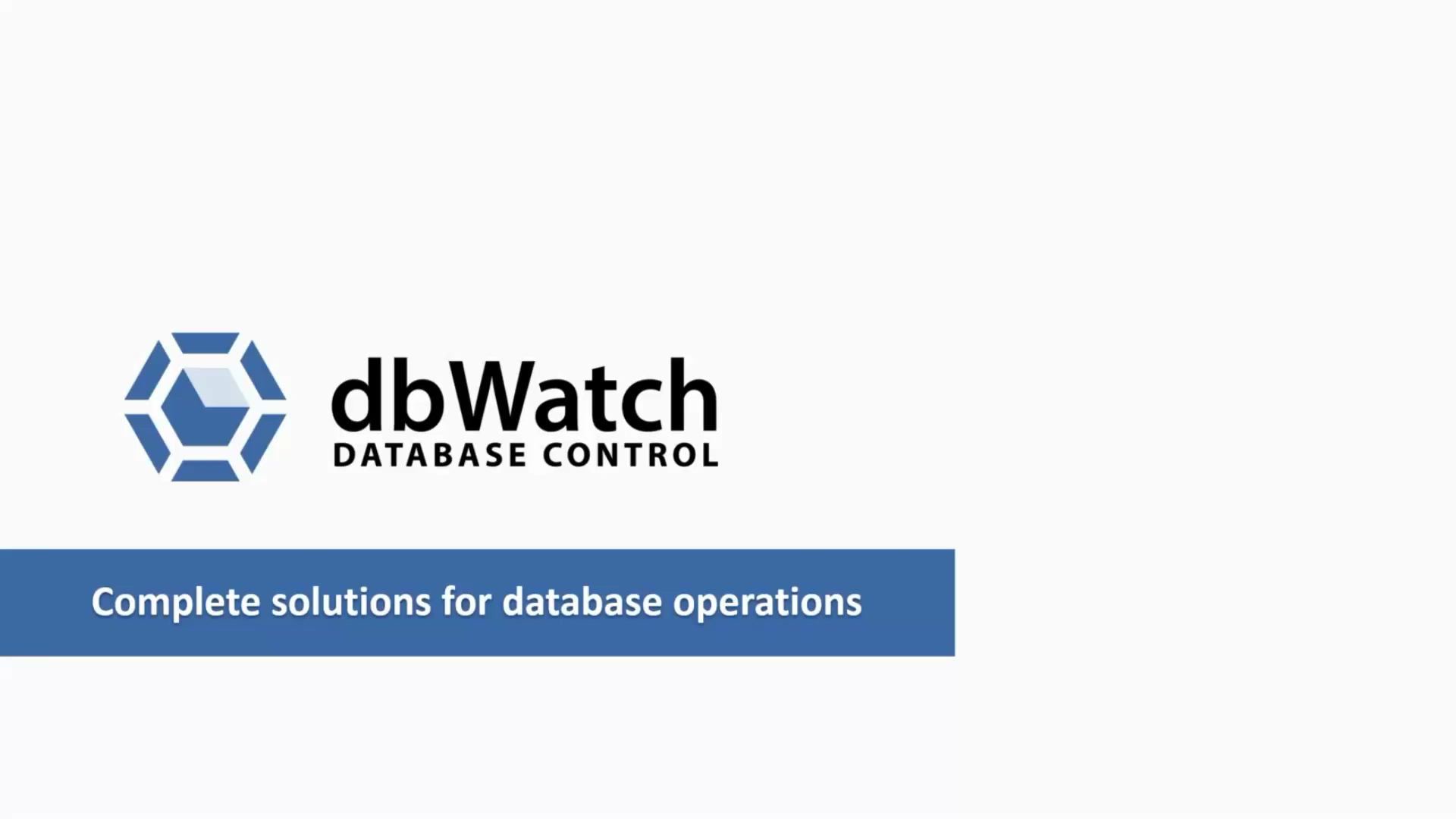 dbWatch Episode 1 May 21, 2019-1