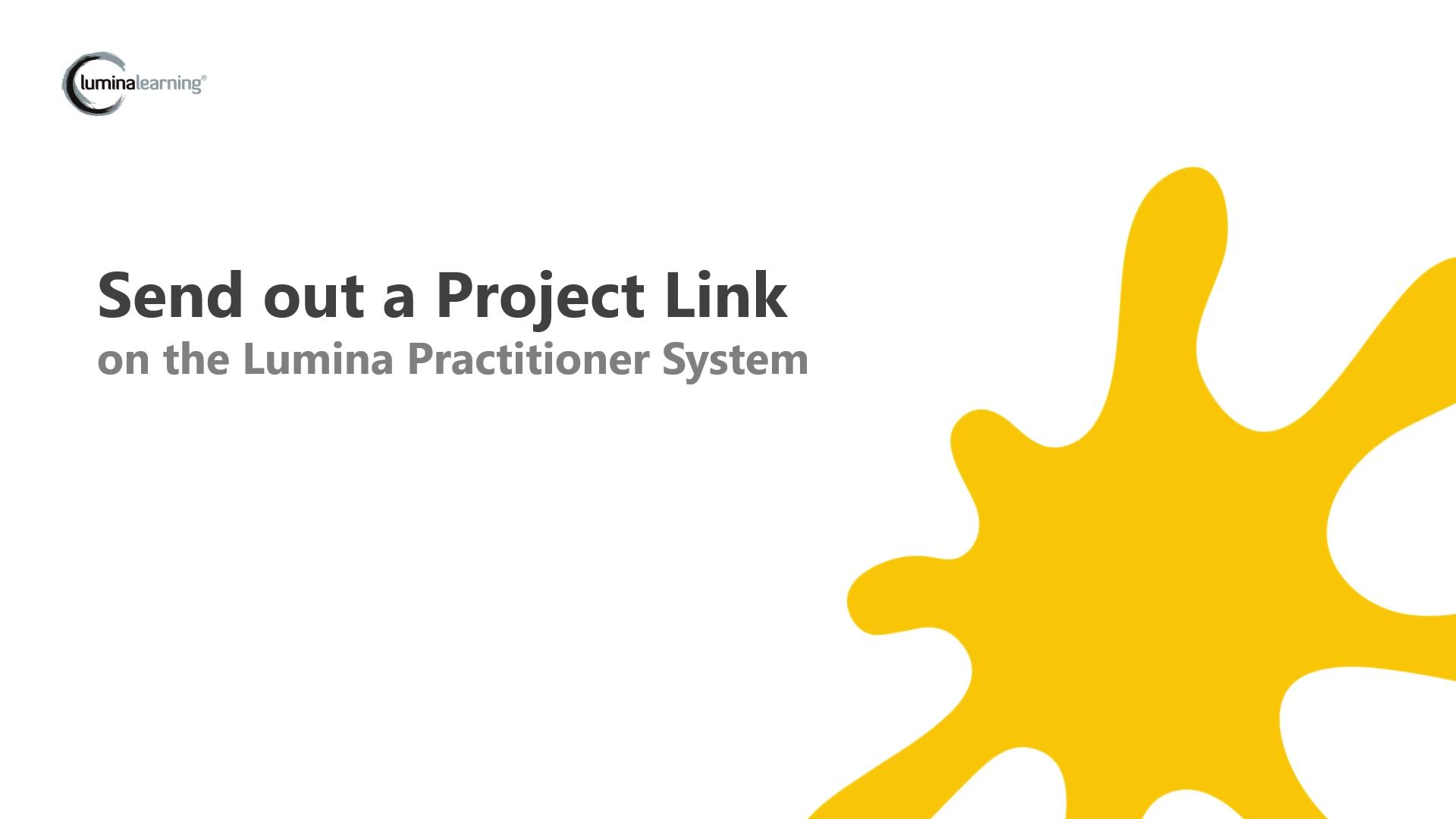 Sending out a project URL to participants