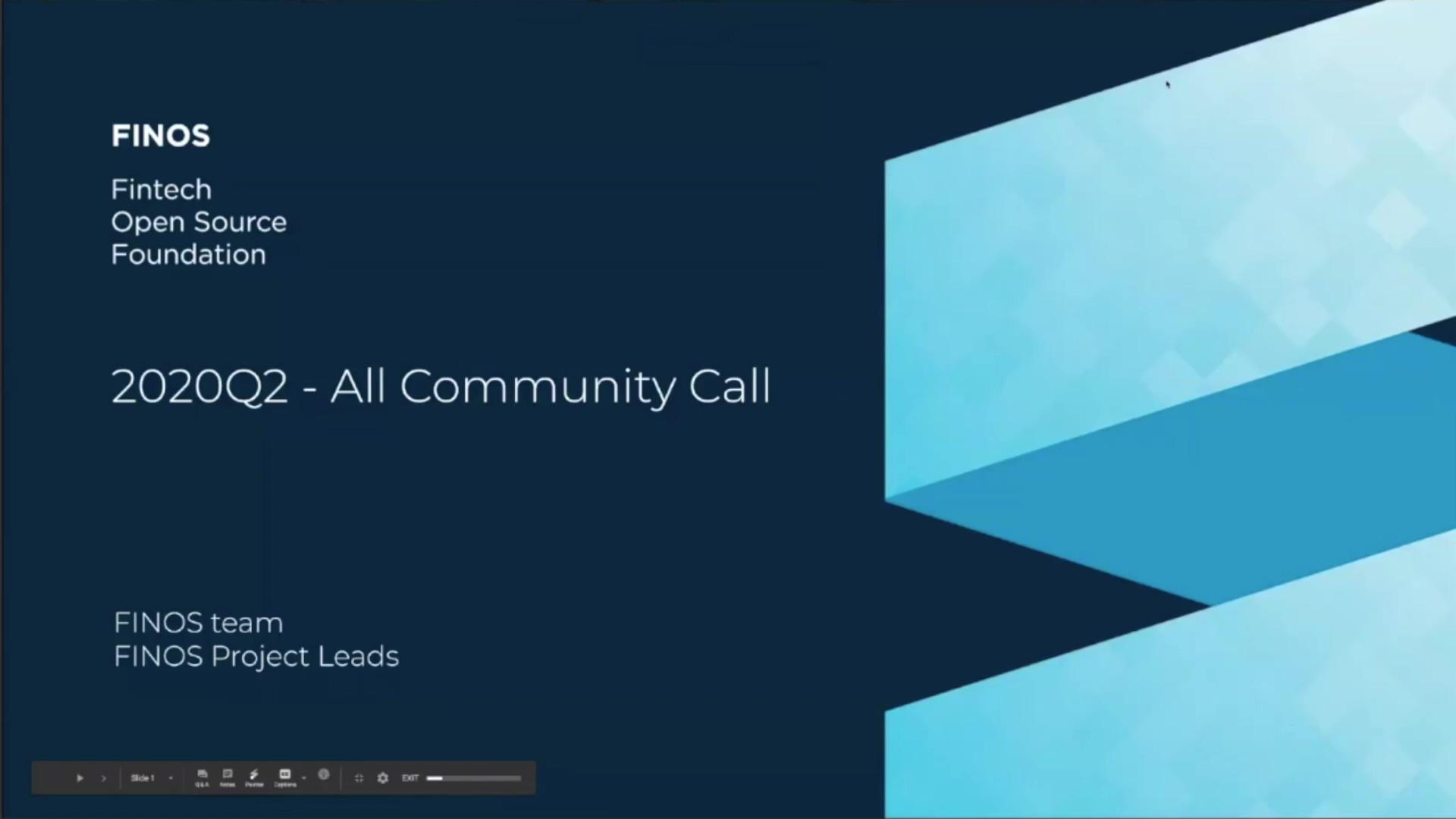 FINOS All Community Call - 11 June 20