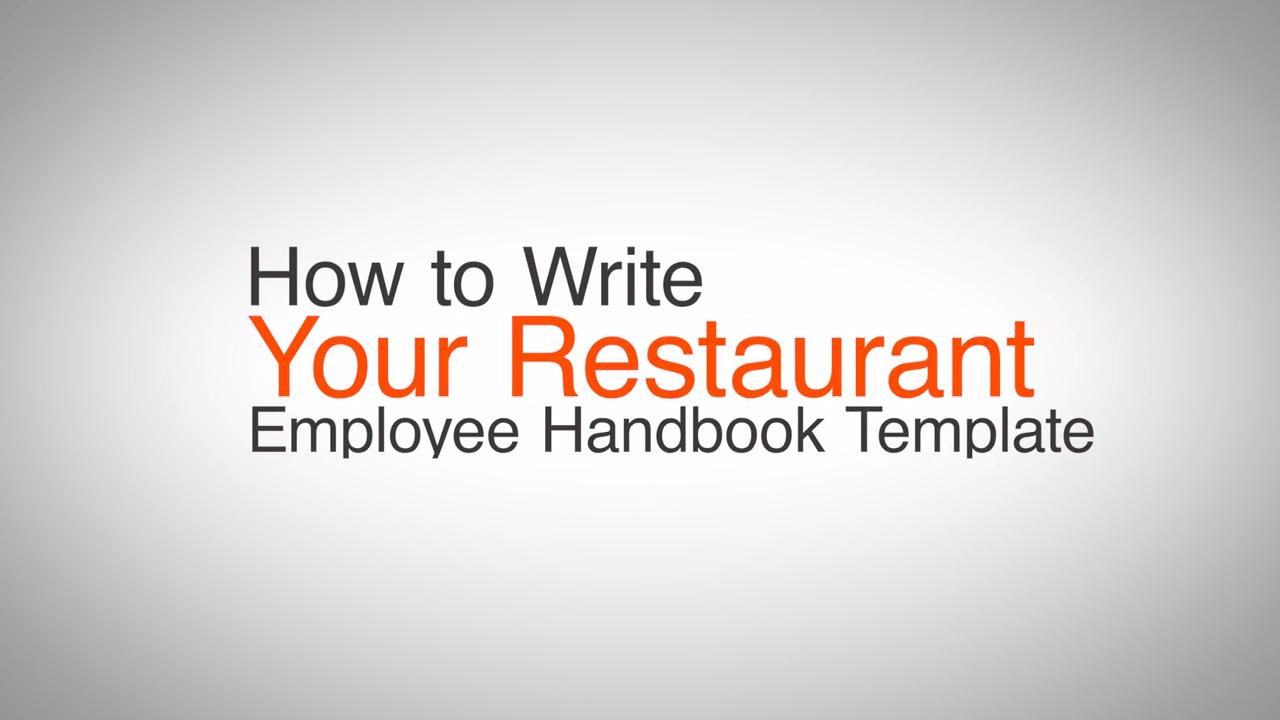 Employee Handbook Template Final