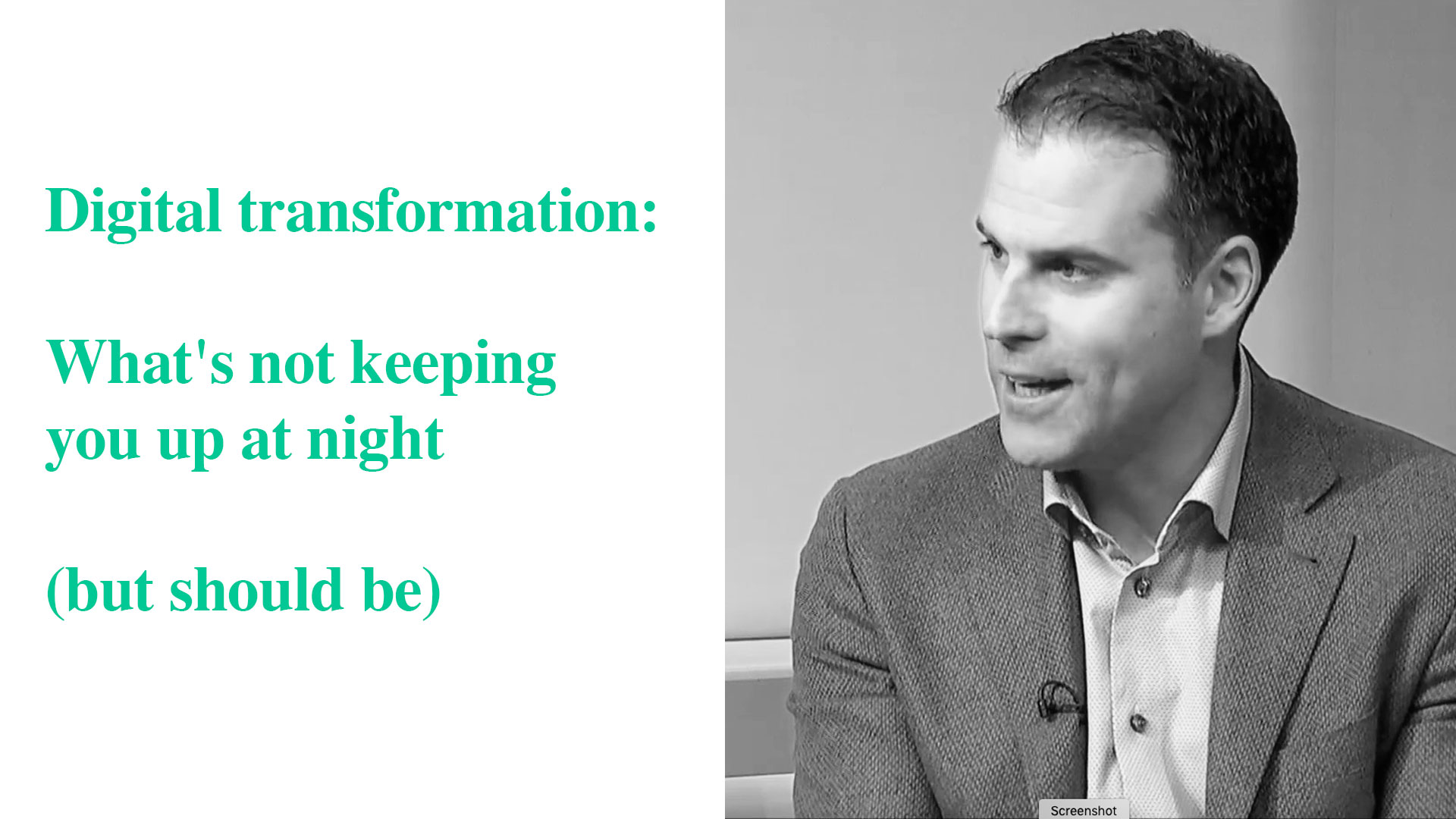 The three key areas of digital transformation