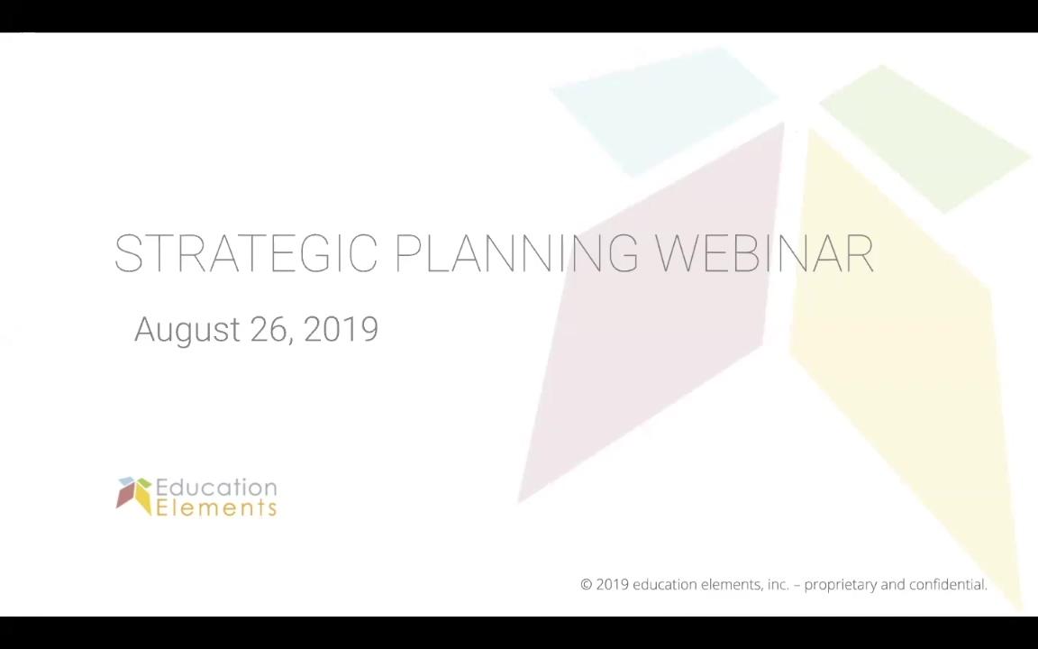 Developing a Responsive Strategic Plan - August 26, 2019 - Webinar
