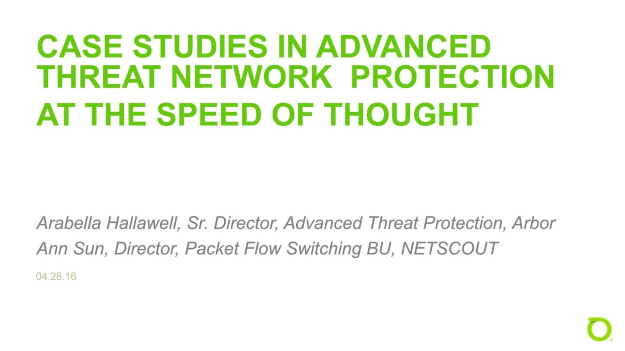 Case Studies in Network Security