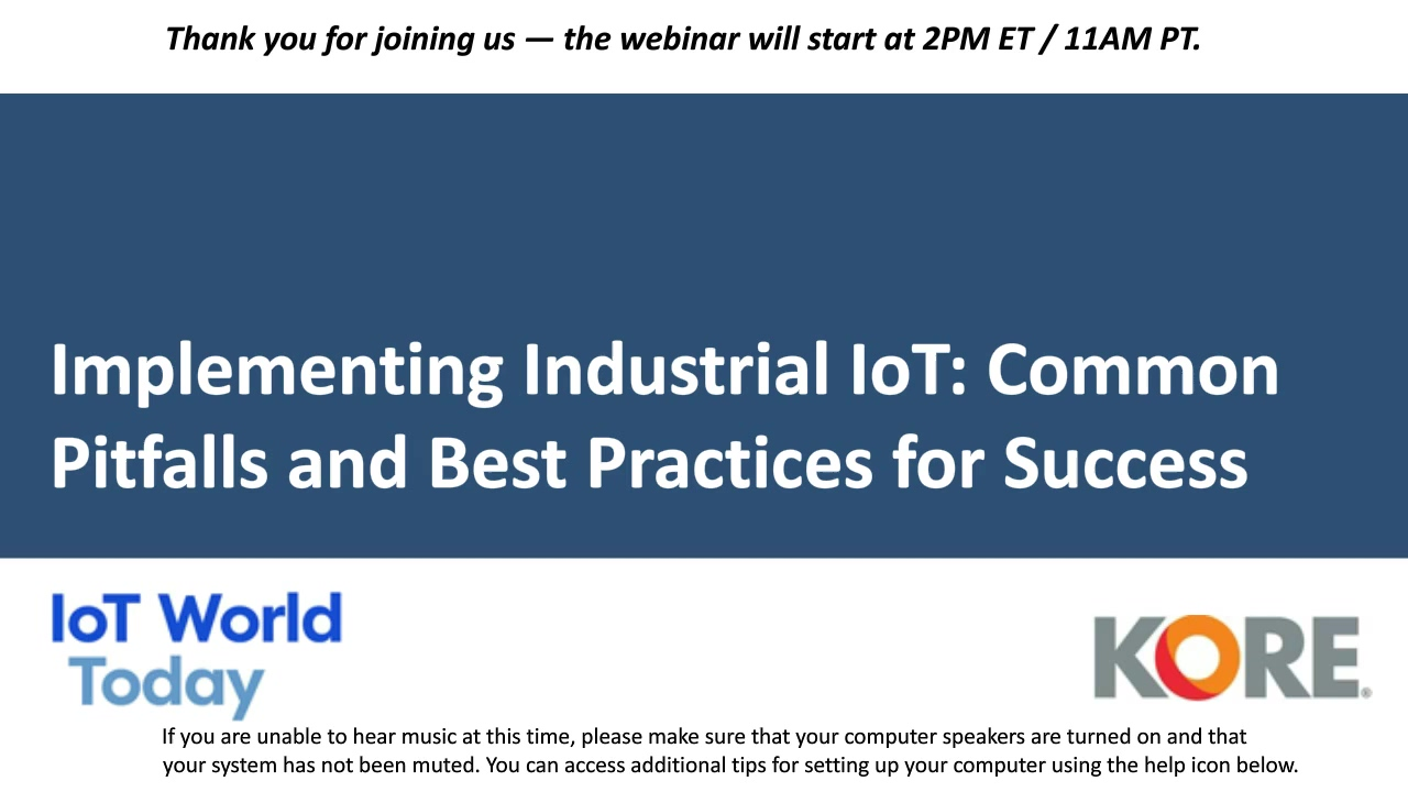 Implementing Industrial IoT