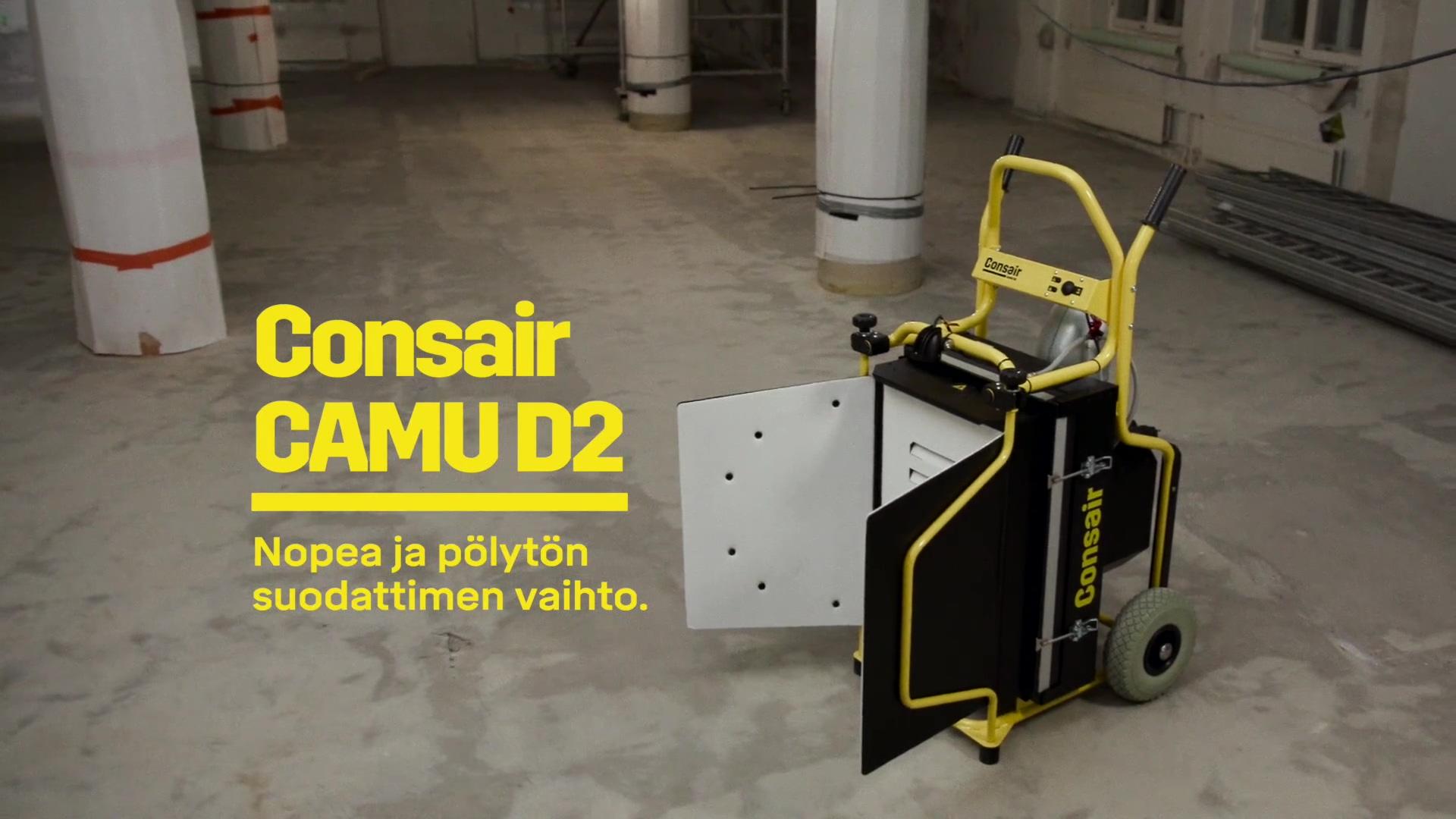 Consair CAMU D2 kohdepoistolaitteen suodattimen vaihto