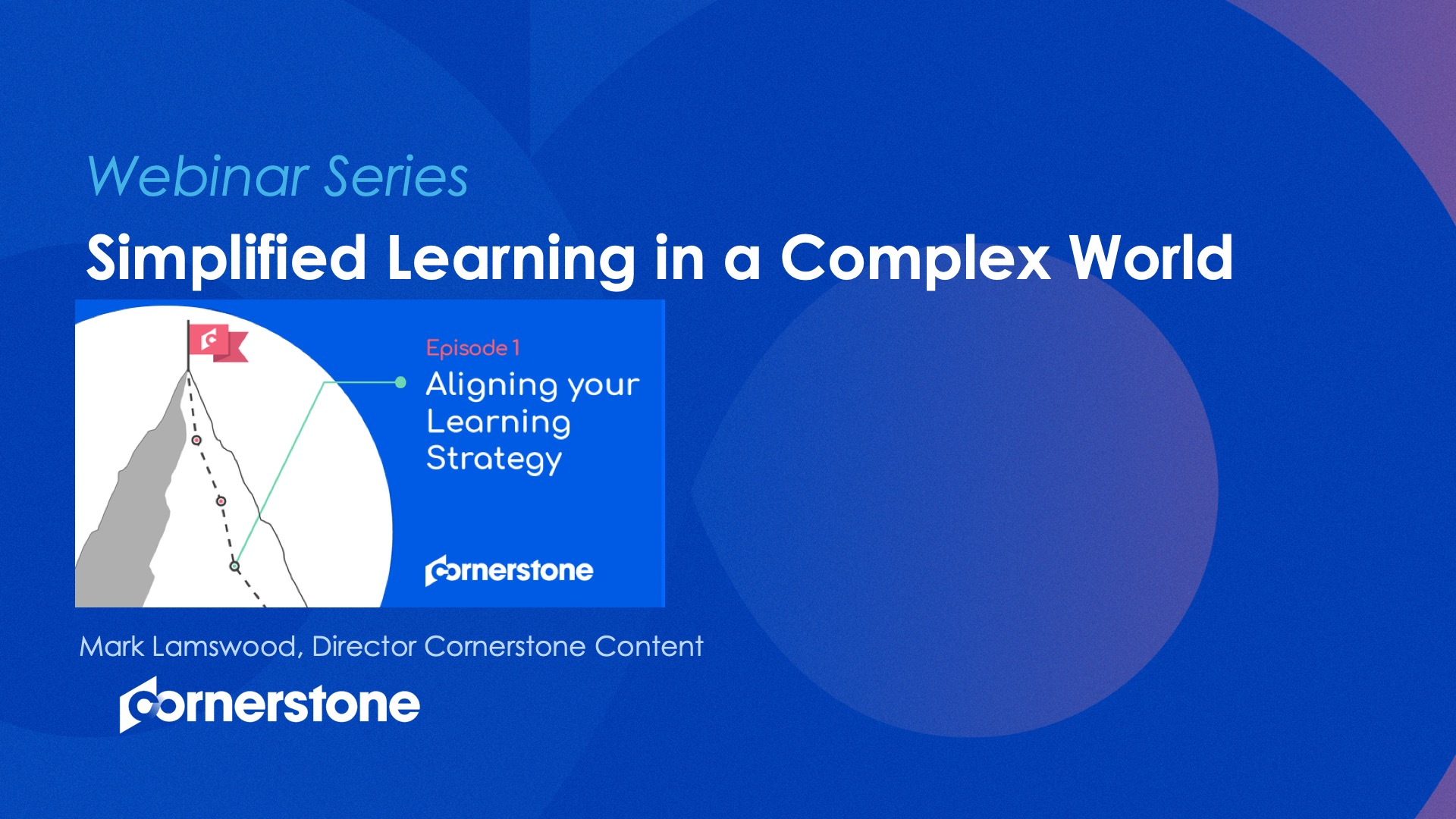 Simplified Learning in a Complex World