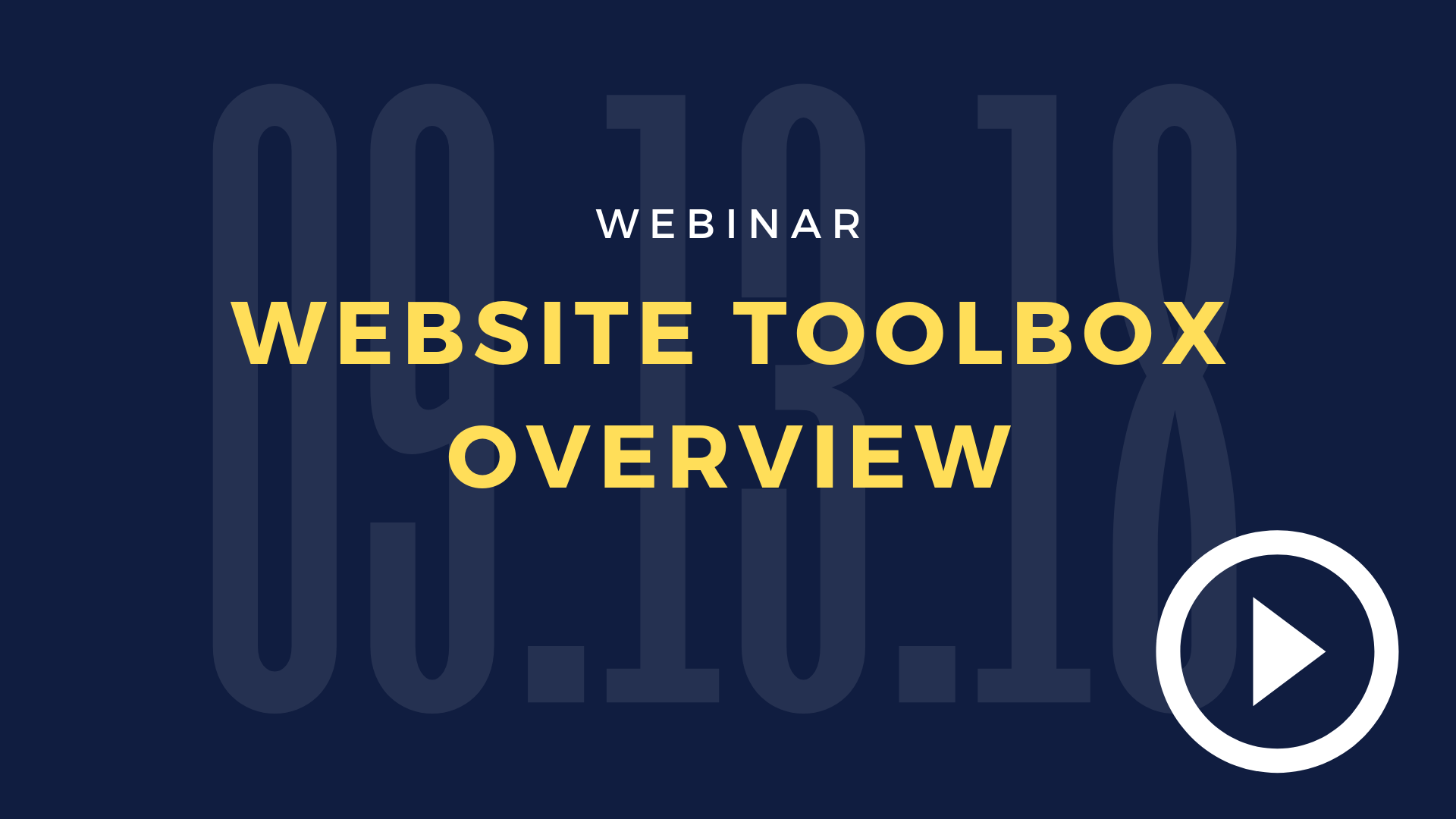 Website Toolbox Overview